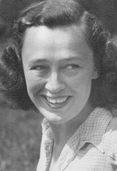 Η Τζέιν Μπιούρελ στο Μπιούρερμπεργκ, Γερμανία. 30 Ιουνίου 1945.